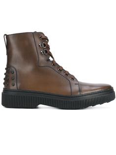 Tods ботинки-челси на шнуровке Tod'S