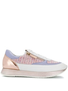 Hogl кроссовки на шнуровке со вставками