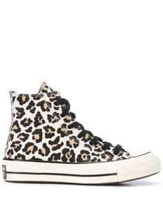 Converse высокие кроссовки с леопардовым принтом