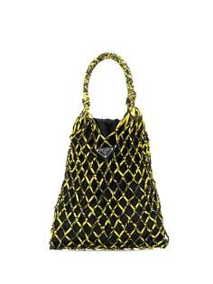 Prada fishnet satchet
