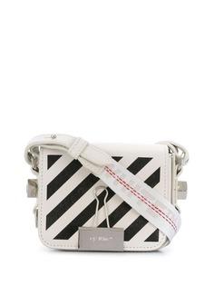 Off-White мини-сумка с диагональными полосками