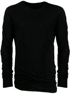 Rick Owens футболка с драпировкой