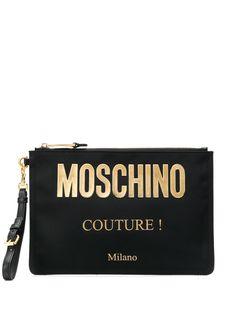 Moschino клатч с логотипом
