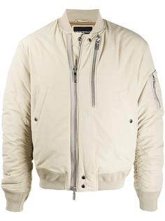 Emporio Armani куртка-бомбер на молнии со сборками