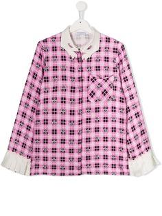 Vivetta Kids клетчатая блузка