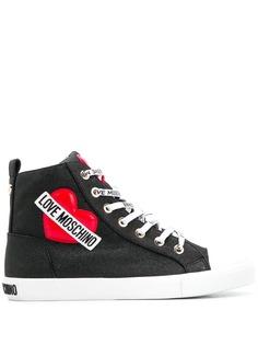 Love Moschino высокие кроссовки с вышивкой