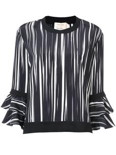 Nicole Miller блузка с оборками на рукавах