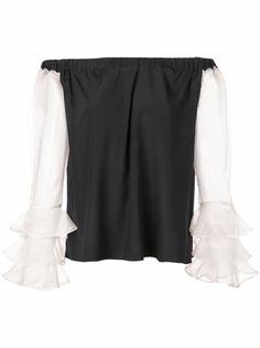 Nicole Miller блузка с открытыми плечами