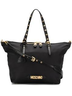 Moschino большая сумка-тоут с верхними ручками