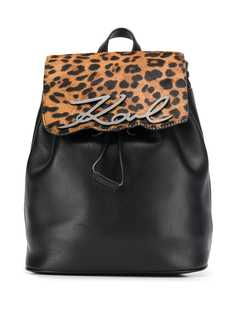 Karl Lagerfeld рюкзак с леопардовым принтом