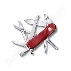 Красный нож 85 мм 15 функций victorinox evolution 18 2.4913.e