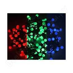 Гирлянда neon-night мультишарики d=23мм, 10м, черный пвх, 80led rgb 303-519
