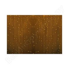Гирлянда neon-night дождь занавес 2х1.5м, прозрачный пвх, 192 led жёлтые, 12 led/нить, 16 нитей 235-301-6