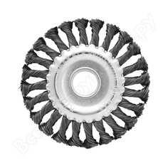 Щетка плоская, крученая металлическая проволока (150 мм; 22.2 мм) для ушм vira 575150
