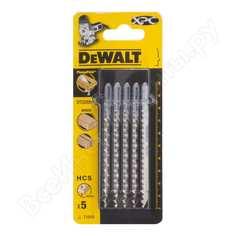 Пилки для лобзика по дереву (100 мм; шаг зубьев 4.2 мм) 5 шт. dewalt dt2209