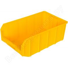 Пластиковый желтый ящик 502х305х184 стелла v-4