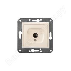 Телевизионная розетка volsten v01-12-t11-m magenta crema, 9054