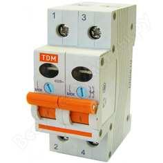 Выключатель нагрузки мини-рубильник tdm вн-32 2p 20a sq0211-0012