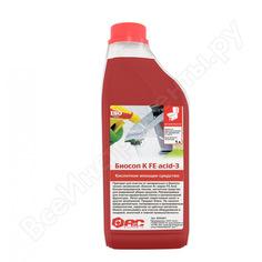 Средство для ежедневной уборки санузлов аис биосоп к fe acid-3 концентрат, 1л 9040401