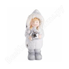 Керамическая фигурка neon-night снегурочка со звездой 505-006
