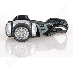 Налобный фонарь ultraflash led 5353 (металлик, 19led, 4 реж, 3xr03, пласт, коробка) 10262