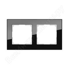 Рамка werkel wl01-frame-02 на 2 поста черный a031798