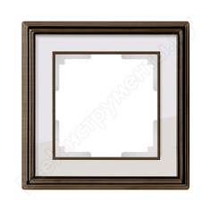 Рамка werkel wl17-frame-01 на 1 пост бронза белый a037682