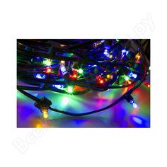 Гирлянда neon-night клип лайт 12в, 100м, шаг 150 мм, 660 led мульти rgyb, с трансформатором 325-129