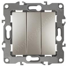 Тройной выключатель эра 12-1107-04 10ах-250в, ip20, шампань б0014672