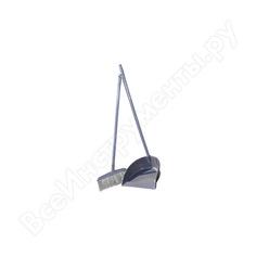 Совок и щетка-ленивка grass пластик it-0243