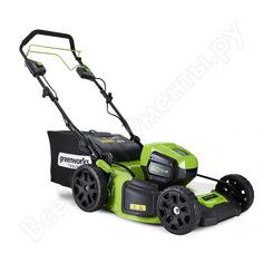 Самоходная аккумуляторная газонокосилка greenworks gd60lm46spk4 60v 2502907ub