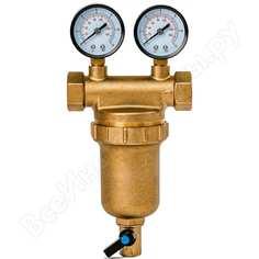 Фильтр 3/4, для горячей воды, с двумя манометрами, d76 гейзер бастион 7508145201 32685