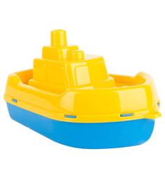 Игрушка для ванной Полесье Буксир желто-синий 17 см
