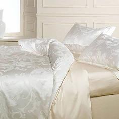 Постельное белье 2 спальное евро Caleffi Turandot кремовое (32335)
