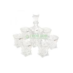 Набор для виски Crystal bohemia as штоф 700мл+6 стаканов 240 (990/99999/9/39750/718-709)