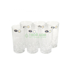 Набор стаканов Crystal bohemia as angela 6х350мл (990/21100/0/42000/320-609)