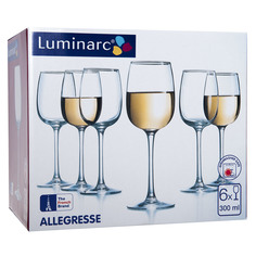 Набор бокалов Luminarc Allegresse 6 шт. 300 мл ( J8164)