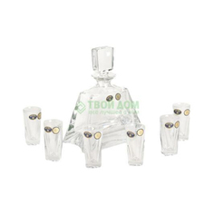 Набор для ликера Crystalite Bohemia Штоф 700 мл и 6 рюмок 50 мл (990/99999/9/00000/488-709)