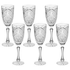 Набор бокалов для вина Махаон 6х320мл Гусевской Хрустальный 1019570