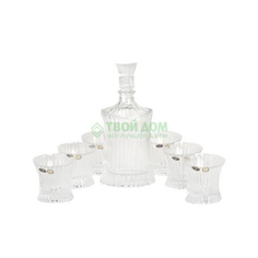 Набор для виски Crystalite Bohemia Штоф 750 мл + 6 стаканов 250 мл (990/99999/9/05101/690-709)