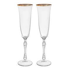 Набор фужеров для шампанского Crystalite bohemia парус/свадьба/190мл/2шт