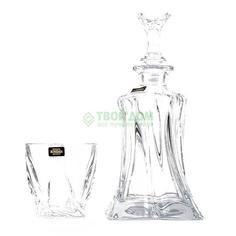 Графин+2 стакана Cristalite bohemia Виски сет