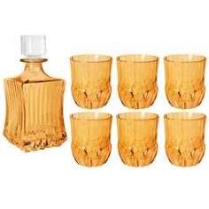 Набор 7пр штоф+6 стаканов для виски адажио янтар Same