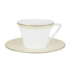 Чашка с блюдцем Narumi Бриз голд 240 мл