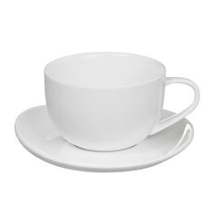 Пара чайная чашка + блюдце 350 мл Tudor TU9999-4