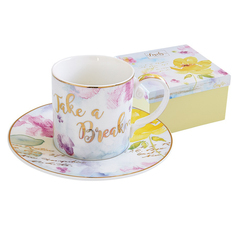 Чашка с блюдцем 0.25л любовь Easy life El-r1561/love