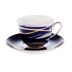 Чашка с блюдцем ЛФЗ чайная, форма весенняя - кокон