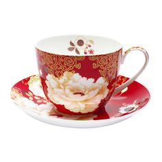 Чашка с блюдцем 0.48л кимоно красный Maxwell & williams