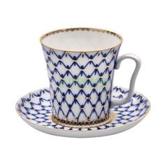 Чашка с блюдцем Лфз Бокал с блленингркобальтовая сеткатн1 (8113955001)