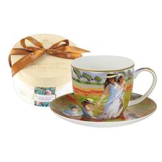 Чашка с блюдцем прогулка в поле Carmani CAR2-045-0229